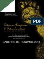 2013 - Caderno de Resumos