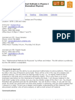 UT Dallas Syllabus for phys5401.501 05f taught by Paul Macalevey (paulmac)