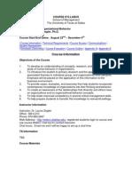 UT Dallas Syllabus for ob6301.0g1 05f taught by Laurie Ziegler (ziegler)