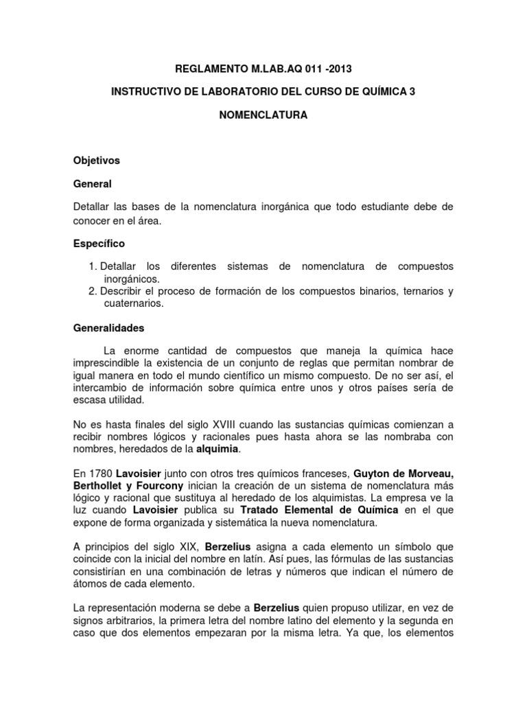 Nomenclatura quimica laboratorio quimica 3cx urtaz Images