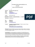 UT Dallas Syllabus for mis6204.555 05s taught by Hans-joachim Adler (hxa026000)