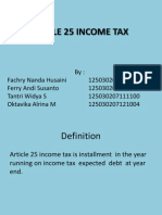 Presentation Article 25 Income Tax in Indonesia