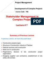 MSPM 706-DMCP Lecture 07 (Stakeholder Management in Complex Projects)