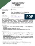 UT Dallas Syllabus for mas6v09.501 06s taught by Jeffrey Kromer (jrk013000)