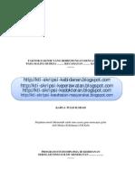 KTI Skripsi No.242 Faktor-faktor Yang Berhubungan Dengan Status Gizi Pada Balita Di Desa (Proposal)