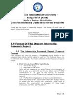 Internship Report Format Spring 2013