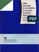 1994-1996 DOC Reglamento Colegios Infantil y Primaria