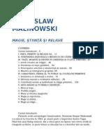 Bronislaw Malinowski-Magie, Stiinta Si Religie 02