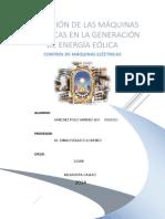 Aplicacion de Maquinas Electricas en La Energia Eolica