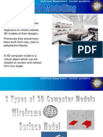 3D CAD Modelling Types