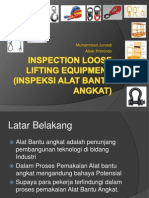 Inspection Loose Lifting Equipment