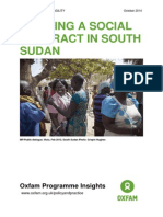 Building a Social Contract in South Sudan