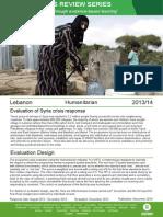 Humanitarian Quality Assurance - Lebanon