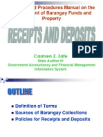 3. Receipts and Deposits Policies Revised Csp 4-09-07