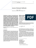 Emission Estimate Methods