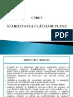 CURS 9 - STABILITATEA PLACILOR PLANE.pptx