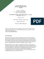 UT Dallas Syllabus for lit2331.002 05f taught by Numair Choudhury (nac032000)