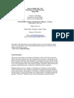 UT Dallas Syllabus for lit2331.001 06s taught by Numair Choudhury (nac032000)