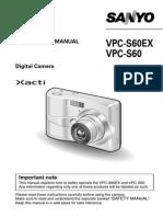 Camera_sanyo VPC-S60EX/VPC-S60