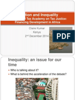 Presentation Tax and Inequality Claire Kumar