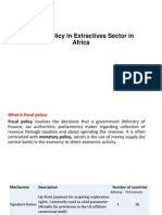 Fiscal Policy in Extractives Sector in Africa - Mwambwa S.