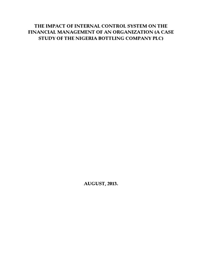 The Impact of Internal Control System on the Financial