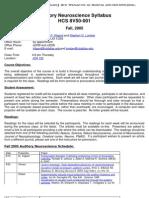 UT Dallas Syllabus for hcs7372.005 05f taught by Michael Kilgard (kilgard)