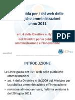 Linee guida per i siti web delle pubbliche amministrazioni