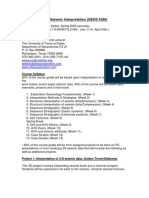 UT Dallas Syllabus for geos5380.501 06s taught by Weldon Beauchamp (wbeauch)