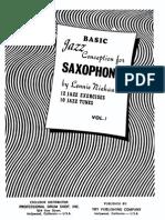 Lennie Niehaus - Basic Jazz Conception for Saxophone - Vol. 1 (Beginner)