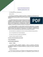 D.L. Nº 1148 Ley de La Policía Nacional Del Perú