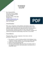 UT Dallas Syllabus for ed4345.501 06s taught by Patricia Leek (santine)