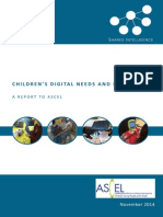 Children's Digital Needs - ASCEL 17 11 2014 FINAL