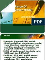 Range Of Motion (ROM).ppt