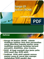 Range Of Motion (ROM).ppt