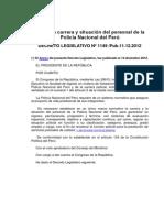 D.L. Nº 1149 Ley de La Carrera y Situación Del Personal PNP