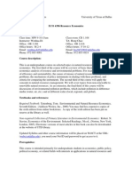 UT Dallas Syllabus for eco4396.001 06s taught by Wenhua Di (wxd041000)