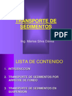 4.1 Transporte de Sedimentosf