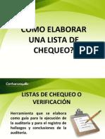 Lista Verificación Auditoria