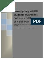 Students Awareness on Halal