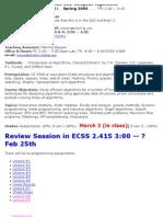 UT Dallas Syllabus for cs6363.001 05s taught by Ramaswamy Chandrasekaran (chandra)