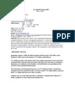 UT Dallas Syllabus for cs5349.501 05s taught by Nancy Van Ness (nancyvn)