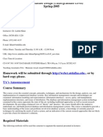 UT Dallas Syllabus for cs4347.501 05s taught by Latifur Khan (lkhan)