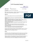 UT Dallas Syllabus for cs4337.501 06s taught by Shyam Karrah (skarrah)