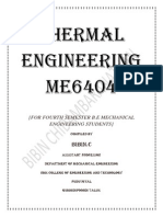ME   2301 Thermal Engineering Short Questions and Answers