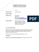 UT Dallas Syllabus for cs1337.521 05u taught by George Steinhorst (csteinh)