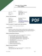 UT Dallas Syllabus for cs1336.521 06u taught by Herman Harrison (hxh017200)