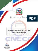 Rendición de Cuentas CNECC 2007