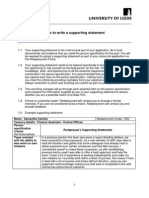 How to Write a Supporting Statement