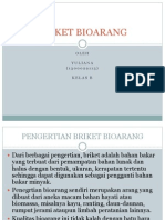 Ppt Briket Bioarang oleh yuliana 2014